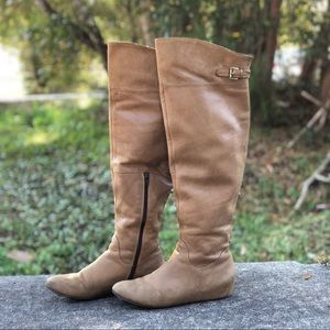 Aldo   Distressed Over-The-Knee Boots - Size 39